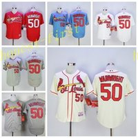 adam white baseball - New Adam Wainwright Jersey Baseball Cooperstown Vintage Cardinals Jerseys St Louis Flexbase Cool Base Pullover White Grey Blue Red Cream