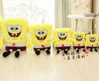 Wholesale 1pcs cm Sponge Bob Baby Toy Spongebob And Patrick Plush Toy Soft Anime Cosplay Doll For Kids Toys Cartoon Figure Cushion