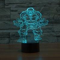 Wholesale Genuine The Hulk LED Light Night Light D Colour Desk Light Acrylic Touch W V USB Plug Retail Package