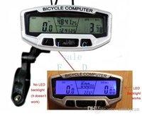 Wholesale 2014 New Functions Waterproof Backlight LCD Bike Bicycle Computer Odometer Speedometer Velometer