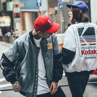 Wholesale KANYE WEST Jacket MA1 Bomber Jacket Pilot Jackets Fashion Men s Baseball Uniform Jacket Hip Hop Sport Suit Parkas