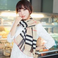 Wholesale Square Scarf Models - Supernova Sale Square Plaid Silk Fall Scarves For Women Scarf Female Models The Velvet Chiffon Scarf Super Long Scarf