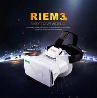 Wholesale RITECH III RIEM3 VR Virtual Reality D Glasses Head Mount Oculus Rift Google Cardboard Phone Wireless Bluetooth Remote Control