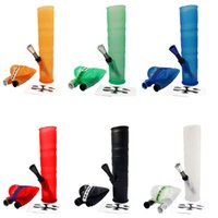 Wholesale 2017 New Recycler Silicon Smoking Bongs With Metal Ppe Gass Portable Rubber Tobacco Pipes