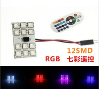 Wholesale RGB with remote T10 ba9s mm SMD light room light atmosphere DC12V mm Auto Remote Controlled Colorful Led Lamp