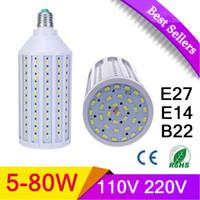 Wholesale LED Lamp Bulb E27 E14 B22 W W W W W W W W W W V V SMD Energy Saving Light Corn