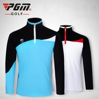 Wholesale 2016 NEW PGM spring and summer Golf men s clothing high quality sports golf long sleeved Golf T shirt breathble Quick Dry Golf POLO shirts