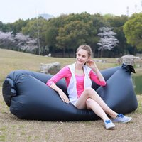 Wholesale Camping Hiking Fast Inflatable Lazy Sleeping Sofa Bed Mattress Air Sofa Sleep Bag Bed Outdoor Pads For Festival Travel Hangout Beach