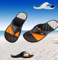 massage slippers - Hot Sale New Summer EVA Shoes Fashion Flip Flops Men Sandals Male Flat Massage Beach Slippers Black White Plus Size