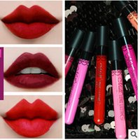 best lip stain - MeNow Lip Gloss Top Liquid Lipstick No Stain with Cups MN Cosmetic Tools Long Lasting Mist Liquid Lip Gloss pieces colors Best Price