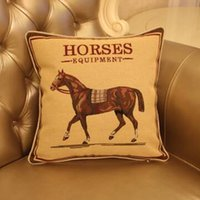 american horse products - Home Textile Products American Style Cushion Cover Stereoscopic Yarn Dyed Horses Pillow Lumbar Pad No Filler