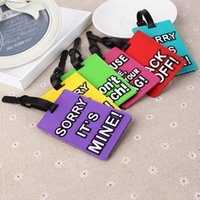 Wholesale Cute cartoon silicone luggage tag Creative PVC luggage tag Letters luggage tag