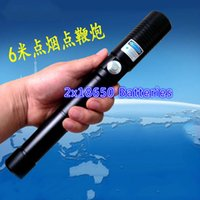 Wholesale 2x18650 nm Cutting Wood Cigarette Shooting birds fireworks Blue Laser Pointer LPS w Dual Safety LED Indicator button