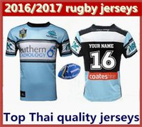 australia customs - Free Custom best Thai quality Cronulla Sharks rugby jerseys Zealand NRL Australia league rugby jersey shirts Size S XXL