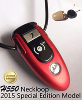 Wholesale Classic H550 Bluetooth Loopset with Earpiece full item Neckloop Covert Wireless Earpiece A780 Earphone Mini tiny Invisible Earbud spy