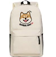 Wholesale Beige Shiba Inu backpack Cute dog school bag Doge daypack Hot schoolbag New game play day pack