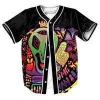 baseball trips - Alien Trip Jersey with buttons Hip Hop Men s shirts Streetwear baseball shirt sport tops Tees Summer Style Casual sweat shirt