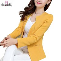 Wholesale Spring Women Slim Blazer Coat New Fashion Casual Jacket Long Sleeve One Button Suit Ladies Blazers Work Wear