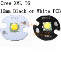 Wholesale CREE XML XM L T6 LED U2 W WHITE High Power LED Emitter Diode with mm mm mm mm PCB for DIY