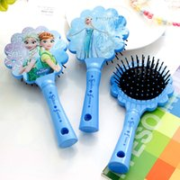 baby brush and comb - 2016 frozen baby and adult air bag combs frozen flower ruffle Hair Brush Combs frozen massage combs Salon Styling Tamer Tool