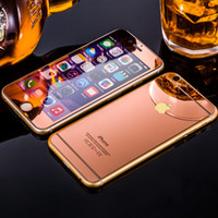 Wholesale Colorful Screen Protector Tempered Glass For Iphone Iphone Color Plating Mirror colorful front and back Glass Film