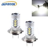 Wholesale 2x W Fog Light H7 LED Car Styling Lamp Lighting Bulb Headlight Automotive Driving DRL Fog Lights H7 Xenon White