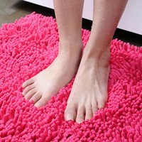 Wholesale cm multi purpose carpet bathroom door water absorbing mat pad Ottomans mats chenille carpet bathroom anti skid mats