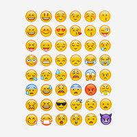 Wholesale Free DHL Emoji Smile face stickers for notebook message Twitter Large Viny Instagram