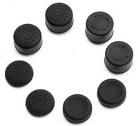 Wholesale 8 X soft silicone thumbstick grips thumb grips analog stick cap cover for PS4 controller