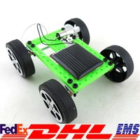 Wholesale Mini Solar Powered Toy DIY Car Kit Children Educational Gadget Hobby Funny Worldwide DHL Free XL T03