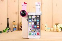 acrylic angles - 2016 Hottest New Fashion Mobile Phone Universal Effects Shots Kitty Cat Cartoon Clip X Super Wide Angle Lens Self Artifact Acrylic Lenses