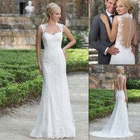 affordable dresses online - Lace Sheath Wedding Dresses Sweetheart Illusion Back Bridal Gowns Online Store Affordable Sexy Dress For Brides