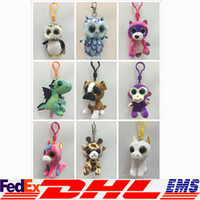 Wholesale Ty Beanie Boos Plush Stuffed Keychain Pendant Big Eyes Animals Soft Dolls For Kids Birthday Gifts Christmas Xmas XL P142