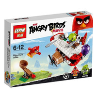 Wholesale LEPIN New The Birds Movie Toys Piggy Plane Attack angry birds Building Blocks Minifigures Brick Kid Toys