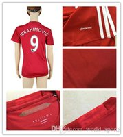 Wholesale 16 Women s Top Thailand Quality Manchester Home Red Soccer Jersey ROONEY IBRAHIMOVIC SHAW DEGEA MATA etc Soccer Jerseys