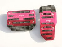 Wholesale 5x Automatic lines stripe foot pedal brake pedal accelerator pedal basic Color Red Blue
