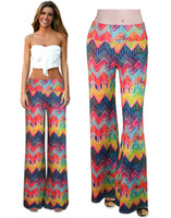 bell bottom pants pattern - New Arrival Fashion Patterns Women Yoga Pants Floral Print High Waist Bell Bottom Trousers Wide Leg Pant A097