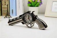 Wholesale Gun Shape Clock Novelty Pistol Gun Shape Alarm Clock Desk Table Home Office Decor Gifts Ft Creative Pistol Alarm Clock