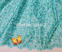 Precio de Cielo azul de la tela de lentejuelas-2015 nuevos lentejuelas organza de tela de encaje tejido de encaje suizo africano asHandcut 5 yardas cielo azul Limón verde del melocotonero rosa púrpura disponibles