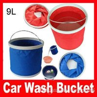 Wholesale 2pcs Car wash bucket car bucket miscellaneously garbage bucket small L bucket folding retractable