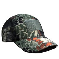 active shooter - Rattlesnake Camo Shooter Cadet Cap Outdoor Travel Tactical Camouflag Hat Cap For Hunting Military hat Baseball Cap