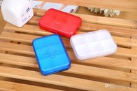 Wholesale 2016 Portable Eco friendly Cells Pill Box Plastic Cases Travel medicine pills Storage Case Refillable box Medication pill box