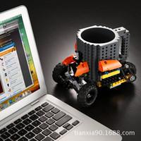 Build-A-ladrillo taza de la bebida de café creativa DIY Lego Bloques Pixel Mega Bloks KRE-O O K'NEX Ladrillos Ladrillos compatibles E539E Copa