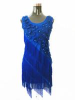 beaded tassel fringe - Women s s Beaded Fringe Scalloped Petal Plus Size Flapper Dress With Applique Tank Sleeveless Dress
