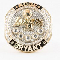 basketball souvenirs - New Arrival basketball rings for fans Collect souvenirs lakers Present Kobe Bryant with Retirement replica championship Ring