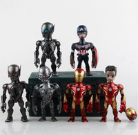 america artist - newest toy Artist Mix Marvel Avengers Age of Ultron Iron Man Captain America Ultron Sentinel PVC children anime cartoon model toy T5284