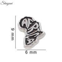africa bracelets - New Arrival Silver Plated Charms Letter Africa Floating Lockets Charms for Bracelet DIY Jewelry Charms for Bracelet Locket Necklaces