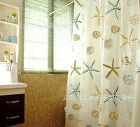 Wholesale Classic Sea Shell PEVA Bathroom Waterproof Mildew Proof Shower Curtain cm