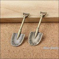 antique shovels - Vintage Charms Shovel Pendant Antique bronze Fit Bracelets Necklace DIY Metal Jewelry Making
