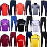 Wholesale Top Thailand Quality kit shirts shirts set survêtement homme of maillot futbol training men standing suits